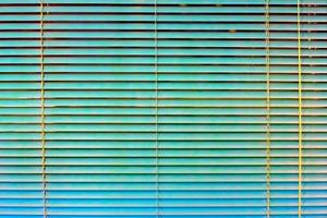 Turquoise window blinds