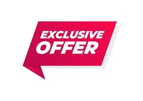Exclusive offer banner. Special offer price sign. Advertising discounts symbol. vector