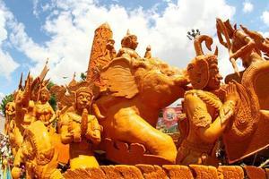 Ubon Ratchathani, Thailand, 2021 - Candle Wax Festival float