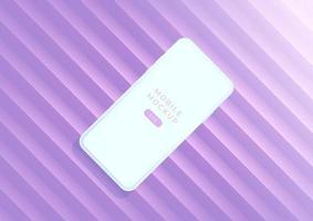 smartphones de maqueta minimalista para presentación, visualización de aplicaciones. vector