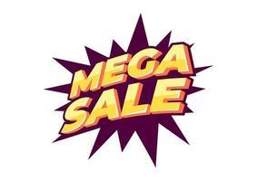 Diseño de plantilla de banner de mega venta, oferta especial de gran venta. Banner de oferta especial de fin de temporada.