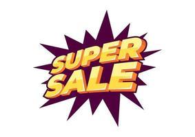 Diseño de plantilla de banner de super venta, oferta especial de gran venta. Banner de oferta especial de fin de temporada.