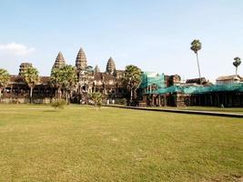 Siem Reap, Camboya, 2021 - Angkor Wat en reparación foto