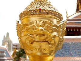 Bangkok, Thailand, 2021 -Gold sculpture at The Wat Phra Kaew