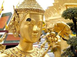Bangkok, Thailand, 2021 - Close-up of The Wat Phra Kaew artwork