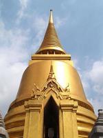 Bangkok, Thailand, 2021 - Wat Phra Kaew golden temple