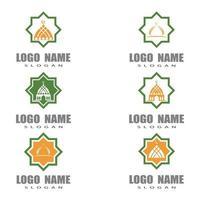 islamic school logo template vector