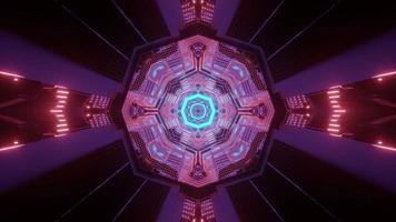 nave espacial futurista interior ilustración 3d foto