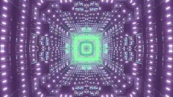 Abstract 3d illustration of neon tunnel photo