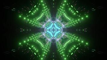 Abstract 3d illustration with kaleidoscopic pattern photo