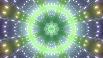 Round tunnel with vivid neon illumination 3D illustration photo