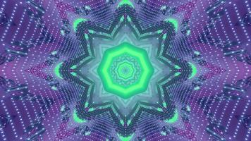Futuristic fractal background with geometric ornament 3d illustration photo