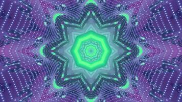 Futuristic fractal background with geometric ornament 3d illustration