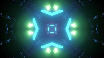 Vibrant 3d illustration of geometric design