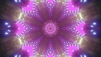 Vivid floral pattern on 3d illustration