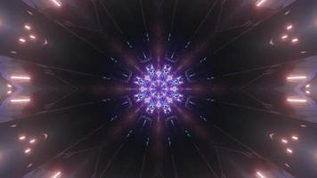 Futuristic kaleidoscopic background of 3d illustration