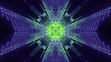 Luminous futuristic pattern in neon colors 3d illustration