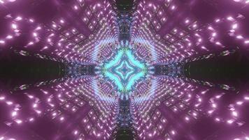 Luminous abstract 3d illustration of space corridor
