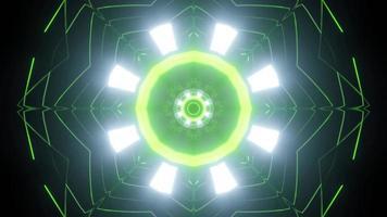 Geometric pattern of shiny lights 3d illustration