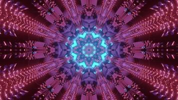 Bright kaleidoscope flower ornament 3d illustration photo