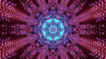 Bright kaleidoscope flower ornament 3d illustration