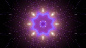 3d illustration of glowing kaleidoscope pattern photo