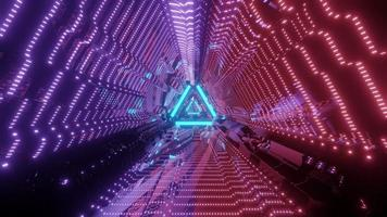 Sci fi architectural tunnel 3d illustration photo