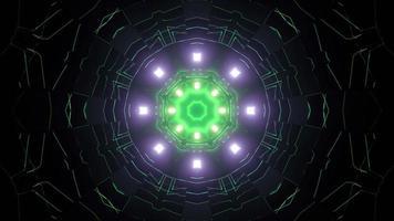 Science fiction tunnel 3d illustration