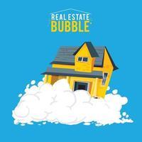 una burbuja inmobiliaria o una burbuja inmobiliaria vector