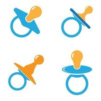 Baby pacifier logo images illustration set vector