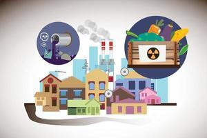 concepto de comida contaminada vector