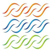 conjunto de imágenes de logotipo de onda de agua vector