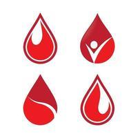 Blood drop logo images set vector