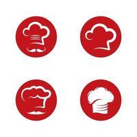 Chef logo images set vector
