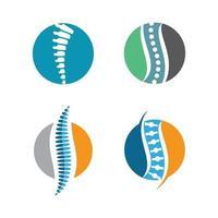 Spine logo images set vector