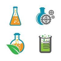 Laboratory logo images illustration set vector