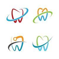 conjunto de imágenes de logo de cuidado dental vector
