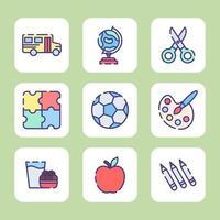educación divertida para el jardín de infantes vector