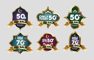 3D Elegant Eid Sale vector