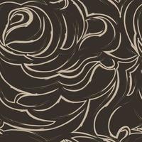patrón transparente marrón de espirales y rizos. adorno decorativo para el fondo. vector