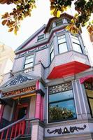 Colorful Victorian house in San Francisco, USA photo