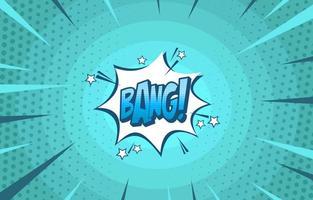 estilo cómic pop art bang vector