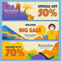 Colorful Big Sale In Ramadan vector