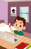 The Student Study At Home vector