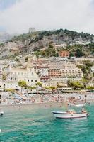Beach on the Amalfi coast, Italy photo
