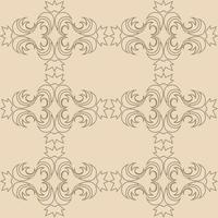 Floral seamless pattern in pastel colors in a linear style. vector