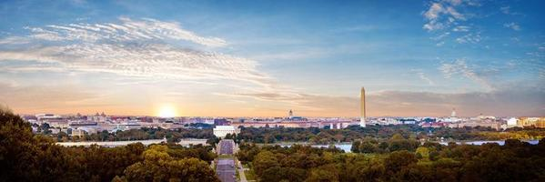 Panorama view of Washington DC skyline, Washington DC, USA photo