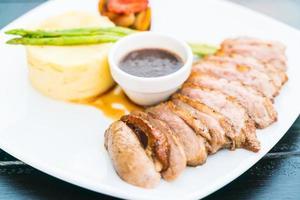 Duck breast steak photo