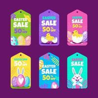 conjunto de etiquetas de venta de pascua vector