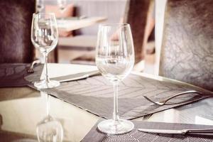 copa de vino vacía foto